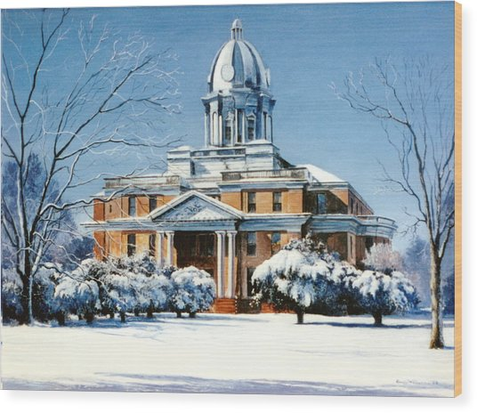 Hardin County Courthouse Wood Print