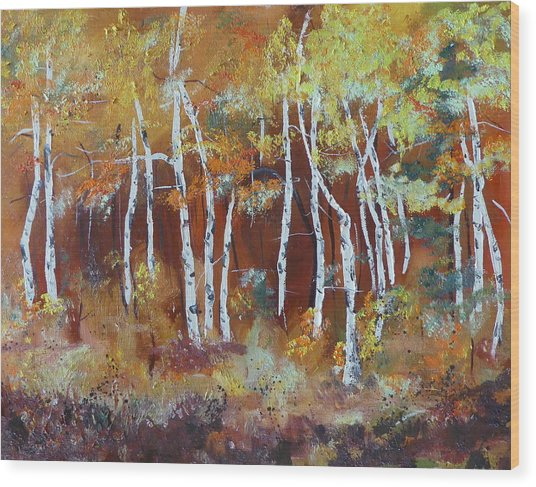 Harding Way  Aspens Dancing Wood Print