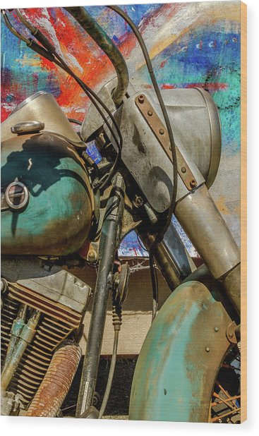 Harley Davidson - American Icon II Wood Print