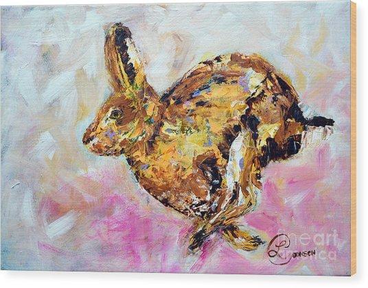Haring Hare Wood Print