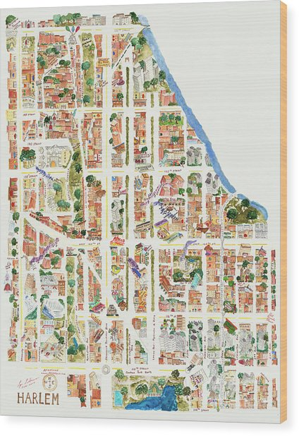 Harlem From 106-155th Streets Wood Print
