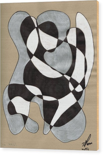 Harlequin Abtracted Wood Print
