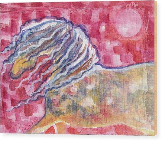 Harlequin Horse Wood Print by Linda Kay Thomas