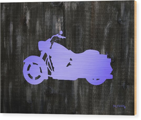 Harley Art Wood Print