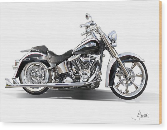 Harley Bike Wood Print