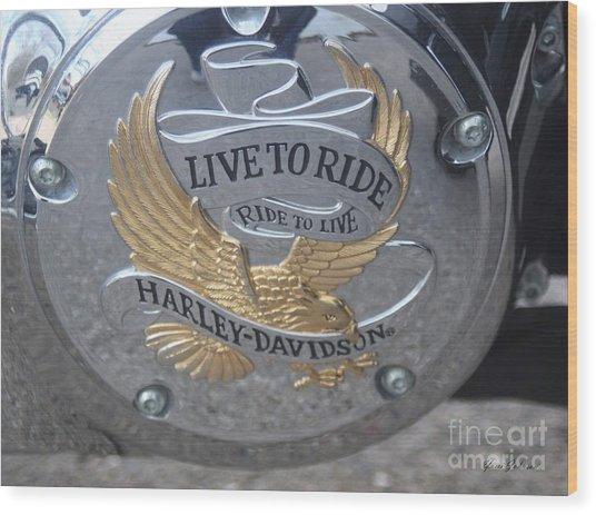 Harley Davidson Accessory Wood Print
