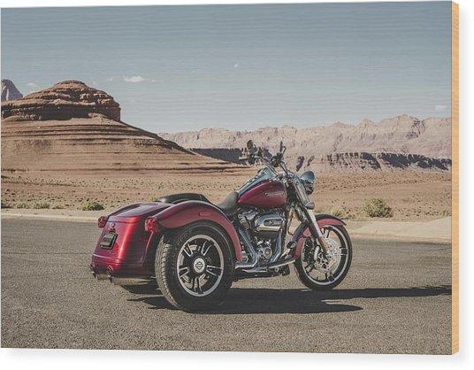 Harley-davidson Freewheeler Wood Print