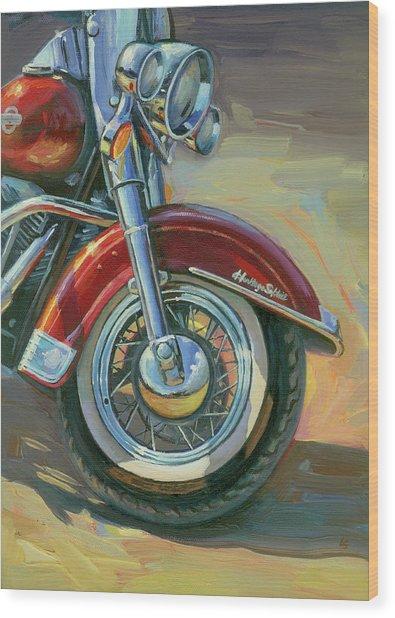 Harley-davidson Heritage Softail Wood Print