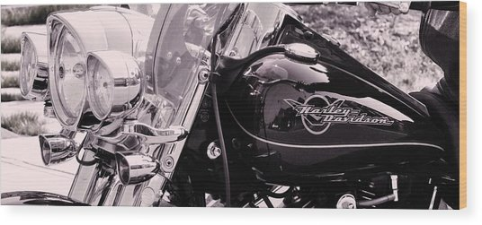 Harley Davidson Road King  Motorcycle Wood Print