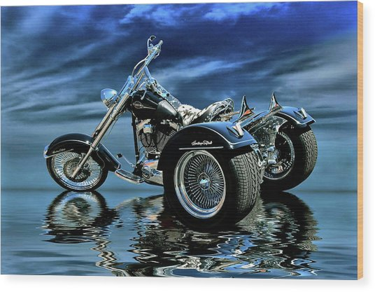 Harley Heritage Soft Tail Trike Wood Print