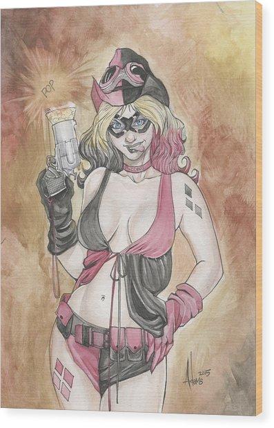 Harley Quinn And Her Popgun Wood Print