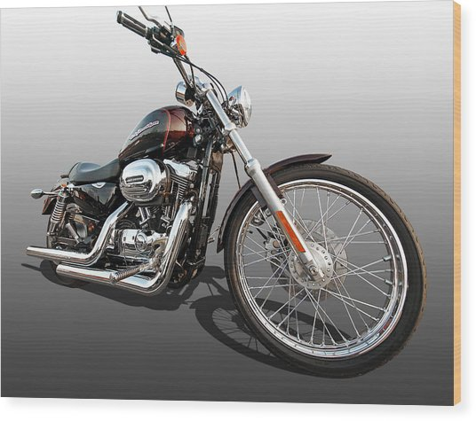 Harley Sportster Xl1200 Custom Wood Print