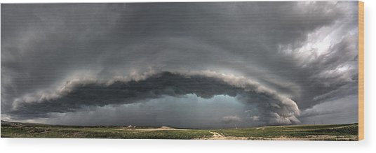 Harlowton, Montana, Supercell Wood Print