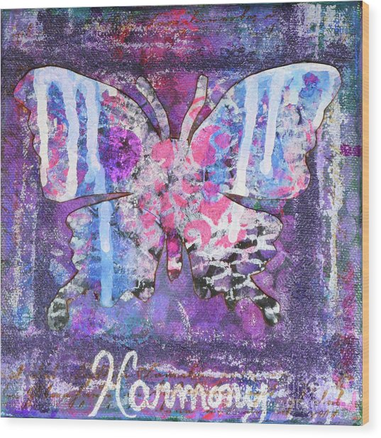 Harmony Butterfly Wood Print