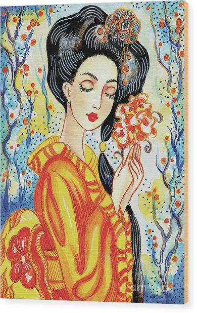 Harmony Flower Wood Print