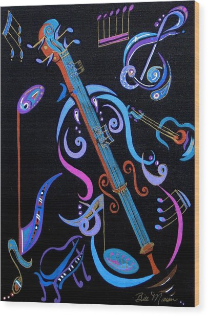 Harmony In Strings Wood Print