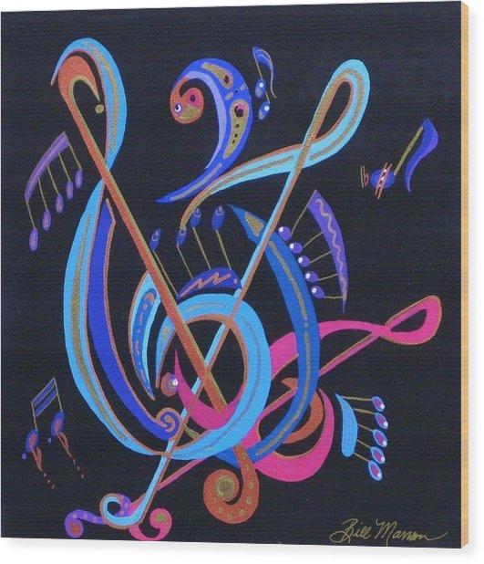 Harmony Iv Wood Print