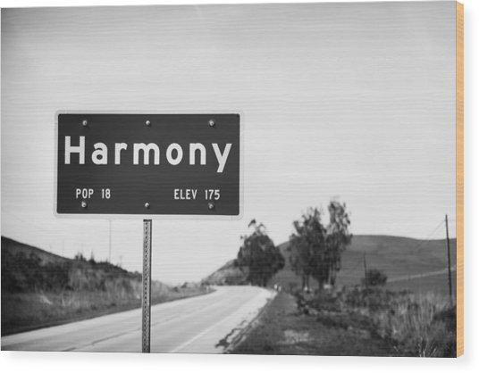 Harmony Wood Print by John Gusky