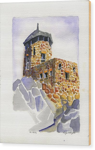 Harney Peak Wood Print