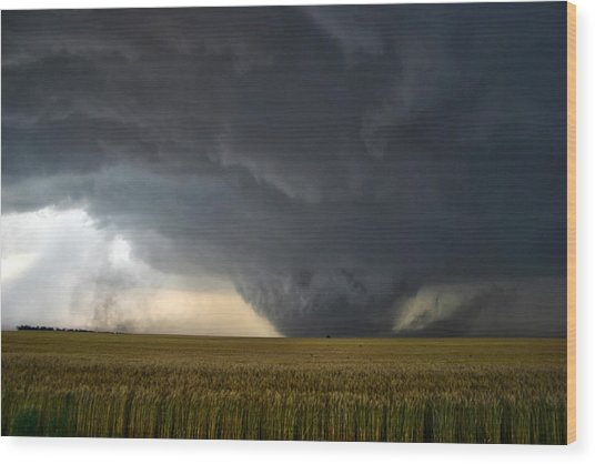 Harper Kansas Tornado 2  Wood Print