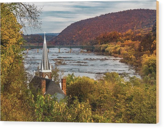 Harpers Ferry, West Virginia Wood Print