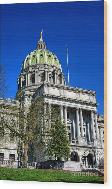 Harrisburg Capitol Building Wood Print
