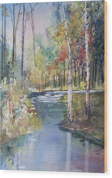 Hartman Creek Birches Wood Print