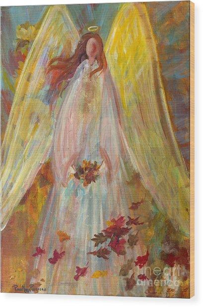 Harvest Autumn Angel Wood Print