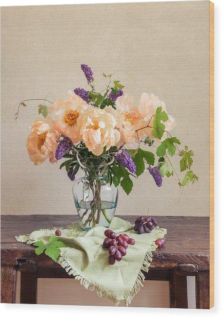 Harvest Bouquet Wood Print