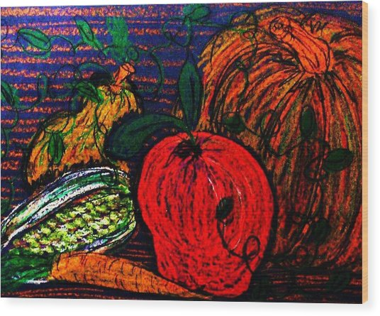 Harvest Wood Print by Jeanette Stewart
