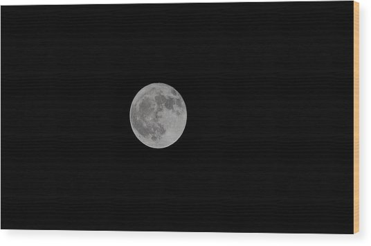 Harvest Moon Wood Print