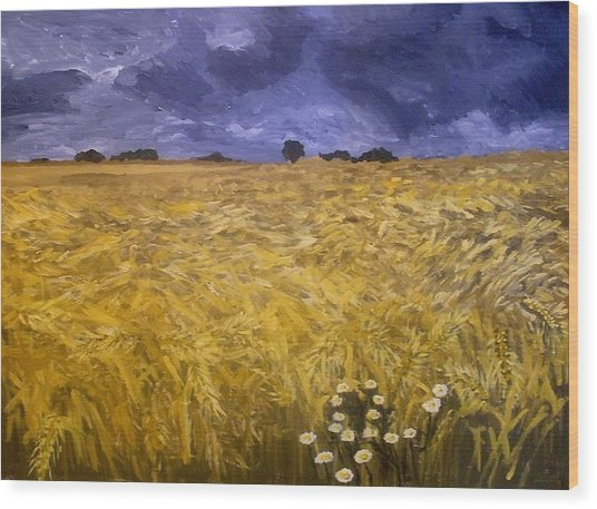 Harvest Time Wood Print by Mats Eriksson