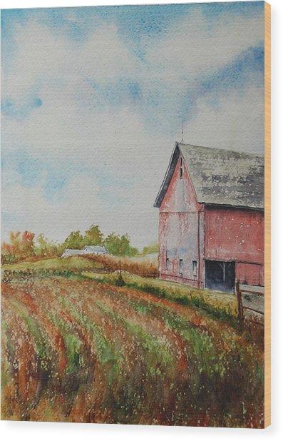 Harvest Time Wood Print by Mike Yazel