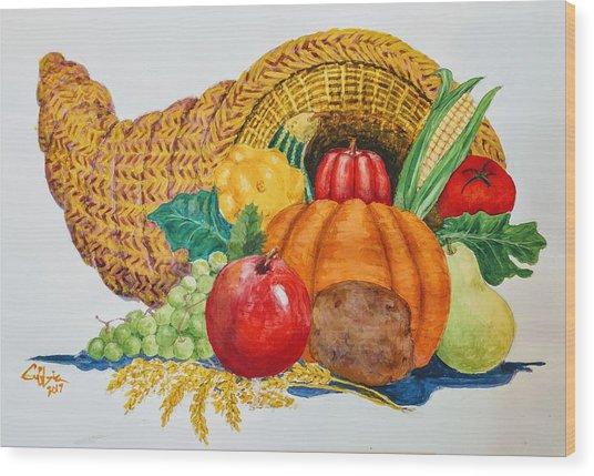 Harvest Time2  Wood Print