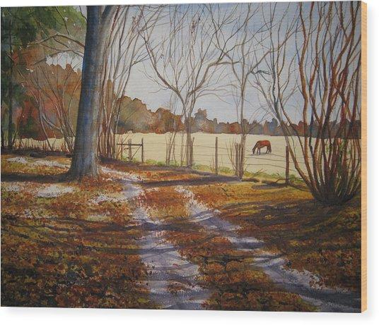 Harwell Farm Wood Print
