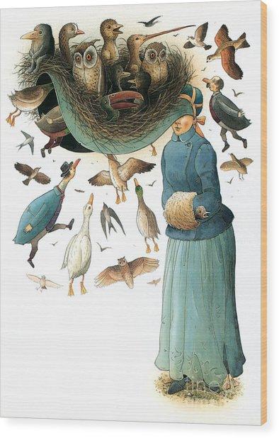 Hat Wood Print by Kestutis Kasparavicius