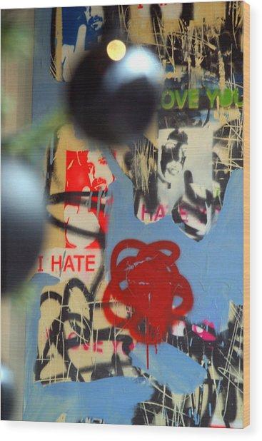 Hate Love Hate Love Wood Print by Jez C Self