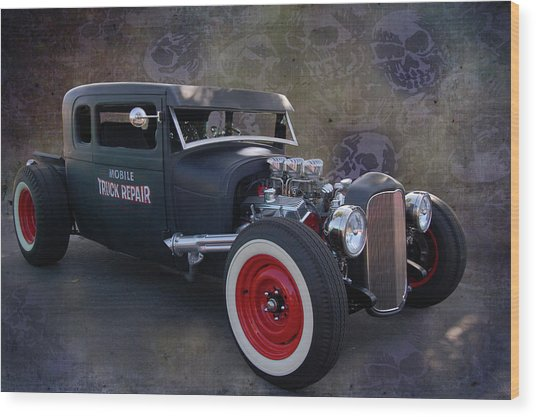 Haunted Truck Repair Wood Print