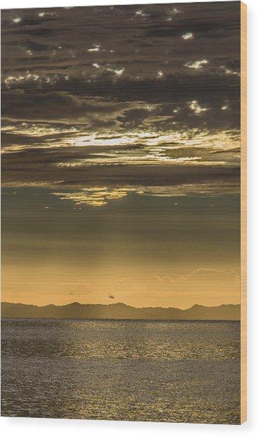 Hauraki Gulf At Sunrise Wood Print