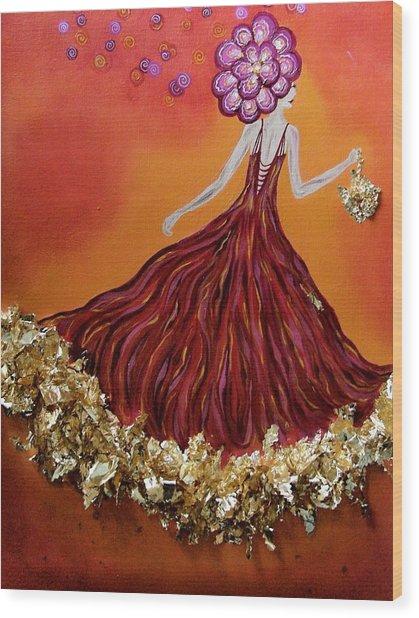 Haute Couture Sunset Wood Print by Samantha Kulchar