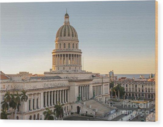 Havana Capitolio Wood Print
