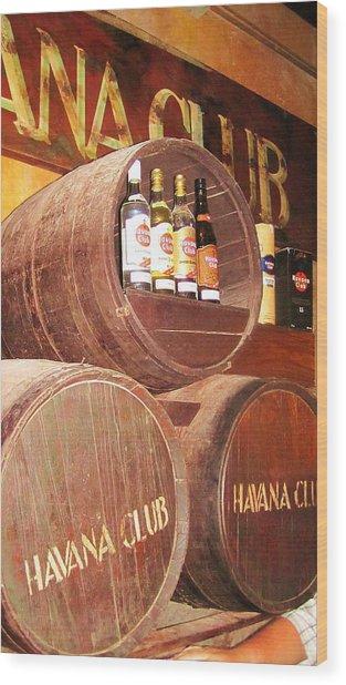 Havana Club Wood Print