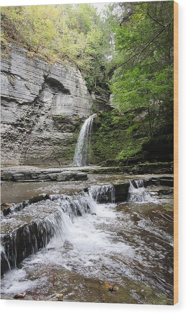 Eagle Cliff Falls II Wood Print
