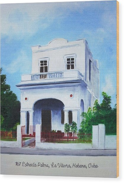 Havana House Wood Print