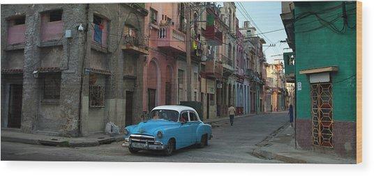Havana Streets Wood Print