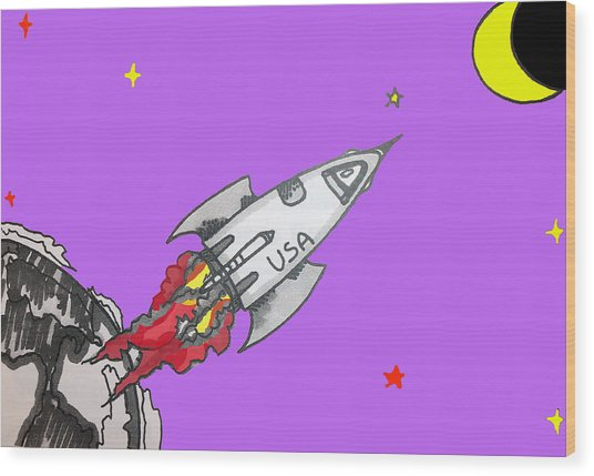 Have Spacesuit Will Travel Wood Print