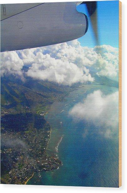 Hawaii Aerial View Wood Print