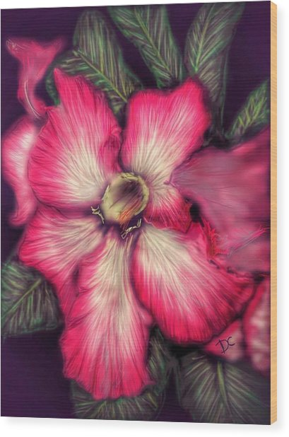 Wood Print featuring the digital art Hawaii Flower by Darren Cannell