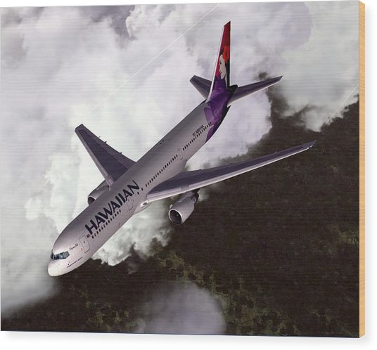 Hawaiian Airlines Boeing 767-300er Wood Print