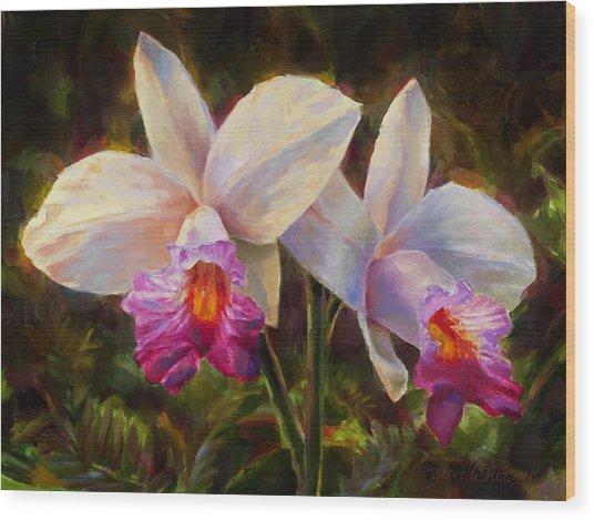 Hawaiian Bamboo Orchid Wood Print